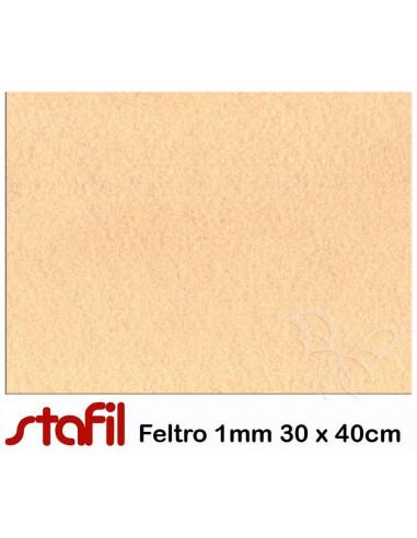 Foglio FELTRO 30x40cm 1mm Carne