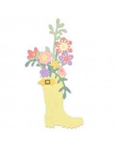 Sizzix Thinlits Die Set 17Pk - Rain Boot Planter 663322