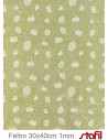 Foglio FELTRO 30x40cm 1mm PASQUA Verde Salvia - Bianco