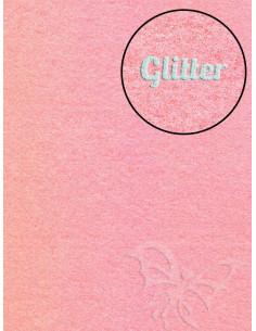 Feltro Glitter Rosa Baby 3mm 50x70cm
