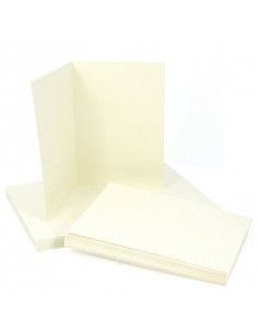 Set 50 TALCO envelopes 120gr 16.2x11.4 cm with a folded 240gr ticket