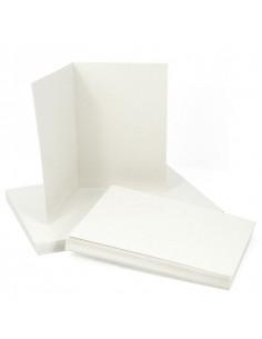 Set 50 WHITE envelopes 120gr 16.2x11.4 cm with a folded 240gr ticket