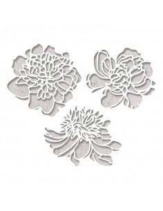 Sizzix Thinlits Die Set 3Pk - Cutout Blossoms 664161