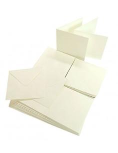 Set 50 Envelopes TALCO 120gr 14x14cm with folded ticket