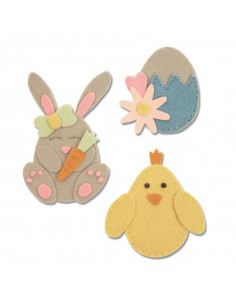 Fustella Sizzix Bigz L - Bunny, Chick and Egg 663492