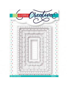 Set 5 Fustelle La Coppia Creativa Rettangoli decorati RU284