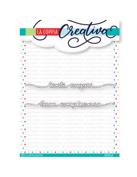 Set 2 Fustelle La Coppia Creativa Auguri & Compleanno RI290