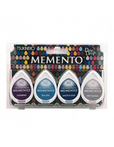 Set 4 Tamponi a goccia Memento per timbri - Dolphin Play