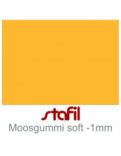 """Foglio moosgummi Soft """"Tuorlo"""" 40x60cm 1mm"""