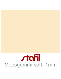 "Foglio moosgummi Soft ""Crema"" 40x60cm 1mm"