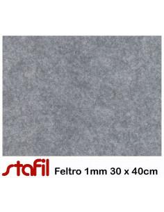 Foglio FELTRO 30x40cm 1mm Grigio Chiaro Melange 25017039