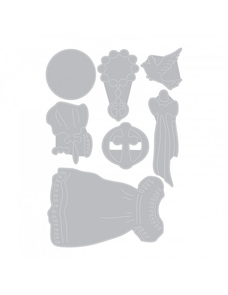 Fustella Sizzix Thinlits Set 7Pz - Battesimo 663222