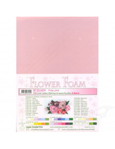 10 fogli A4 Flower Foam Soft 0,8mm Pale Pink