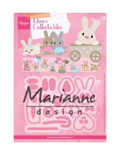Fustella Marianne Design Collectables - Eline's baby bunny COL1463