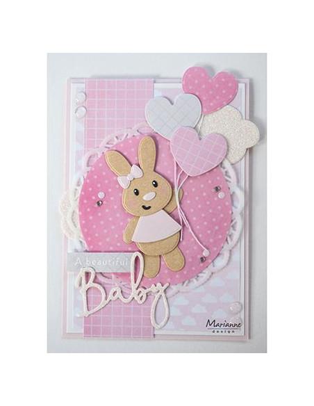 Fustella Marianne Design Collectables - Eline's baby bunny COL1463