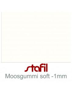 "Foglio moosgummi Soft ""Bianco"" 40x60cm 1mm"