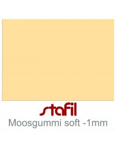 "Foglio moosgummi Soft ""Vaniglia"" 40x60cm 1mm"