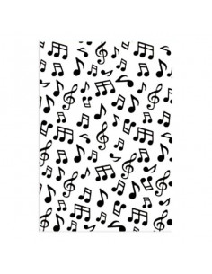 Libretto Embossing - backgrounds musical notes HSF024