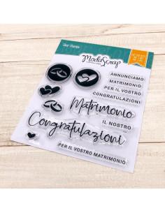 ModaScrap Clear Stamps MSTC 2-017 - MATRIMONIO