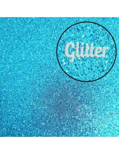 "Foglio Moosgummi glitter ""Turchese"" 40x60cm"