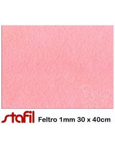 Foglio FELTRO 30x40cm 1mm Rosa Baby