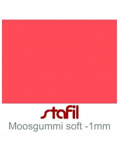 "Foglio moosgummi Soft ""Rosso"" 40x60cm 1mm"