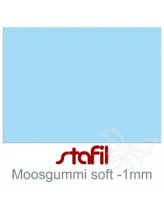 "Foglio moosgummi Soft ""Azzurro"" 40x60cm 1mm"