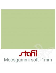 """Foglio moosgummi Soft """"Verde Salvia"""" 40x60cm 1mm"""