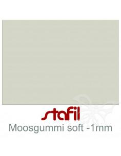 """Foglio moosgummi Soft """"Grigio"""" 40x60cm 1mm"""