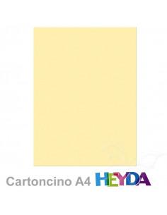 Cartoncino Heyda A4 300gr set 10fg. Vaniglia
