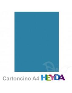 Cartoncino Heyda A4 300gr set 10fg. Blu medio