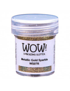 Wow! Embossing Glitters 15ml - Metallic Gold Sparkle WS07R