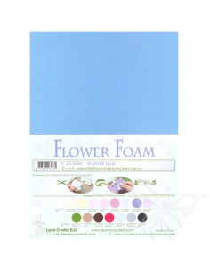 10 fogli A4 Flower Foam Soft 0,8mm Bluebell Blue