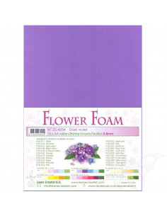 10 fogli A4 Flower Foam Soft 0,8mm Dark Violet