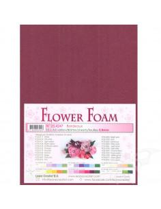 10 fogli A4 Flower Foam Soft 0,8mm Bordeaux