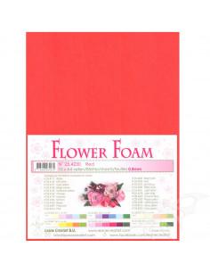 10 fogli A4 Flower Foam Soft 0,8mm Red