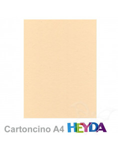 Cartoncino Heyda A4 300gr set 10fg. Camoscio