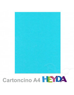 Cartoncino Heyda A4 300gr set 10fg. Azzurro cielo
