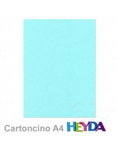 Cartoncino Heyda A4 300gr set 10fg. Azzurro Pastello