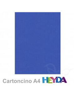 Cartoncino Heyda A4 300gr set 10fg. Blu Reale