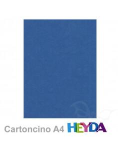Cartoncino Heyda A4 300gr set 10fg. Blu Scuro