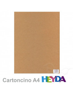 Set 10 fogli Cartoncino Heyda A4 220gr Kraft