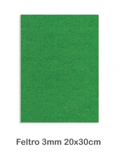 Feltro cm 20x30 mm3 Verde Prato