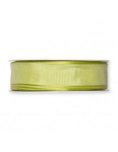 Taffeta ribbon wired edges Light Green 25mm x 5mt