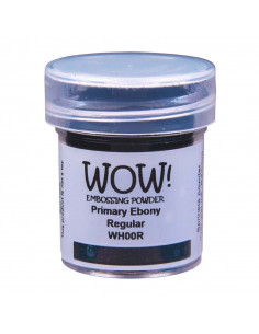 Wow! Polvere Embossing Primary 15ml - Ebony super fine