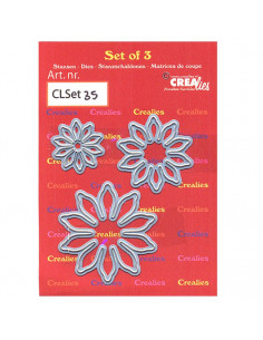 Fustella Set of 3 dies n.35, Flowers 17 CLSet35