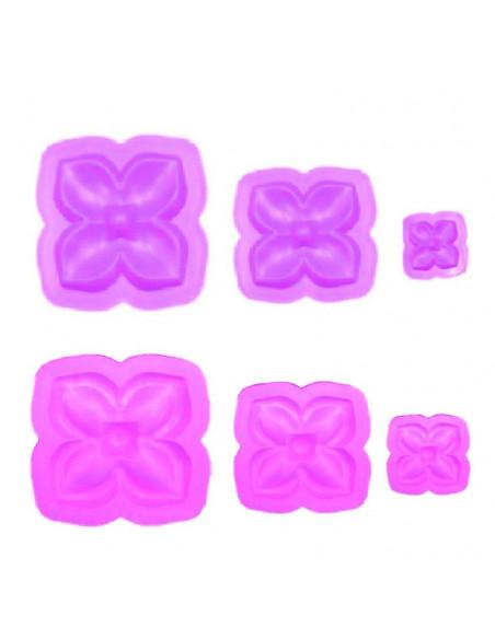 STAMPI per FOMMY Rosa 4 petali cf. 6pz. (3 coppie)
