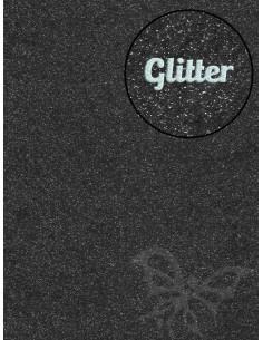 Feltro Glitter Nero 3mm 50x70cm