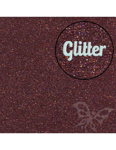 "Foglio Moosgummi glitter ""Marrone"" 40x60cm"