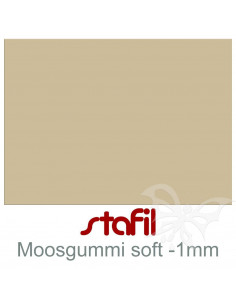 """Foglio moosgummi Soft """"Tortora"""" 40x60cm 1mm"""